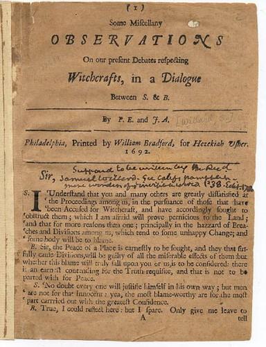 Pamphlet, 1692