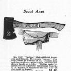 Scout Axe advertisement from Boy's Life magazine