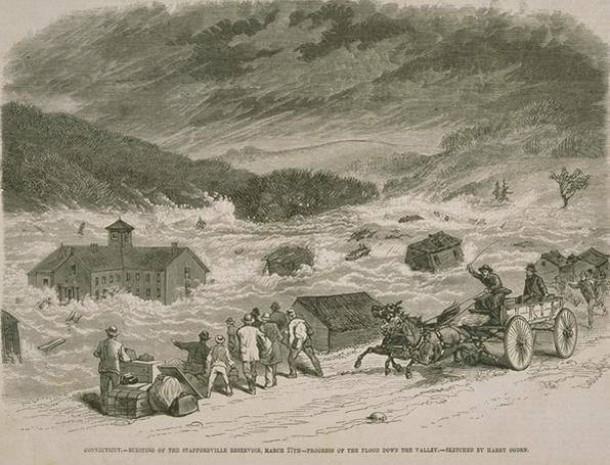 Bursting of the Staffordville Reservoir