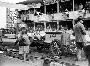 The Corbin Cannonball Racer at the 1910 Vanderbilt races