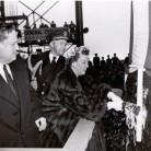 Mamie Eisenhower launches the USS Nautilus