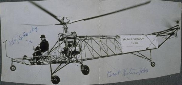 Igor Sikorsky and the first successful helicopter built in America