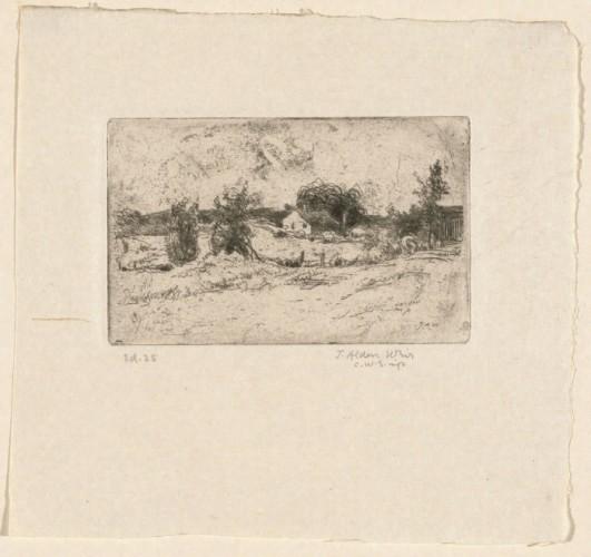 Julian Alden Weir, The Farm, etching