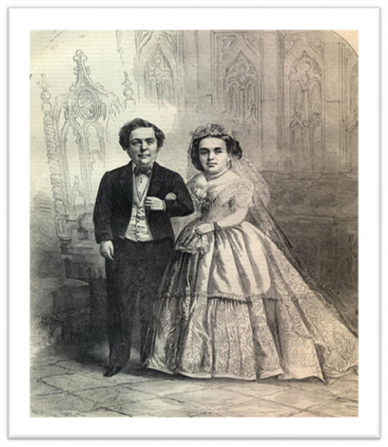 Charles Stratton And Lavinia Warren Wed Today In History