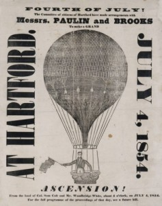 Advertisement for July 4th balloon flight