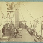 US iron clad Galena, after her attack on Fort Darling, 1862