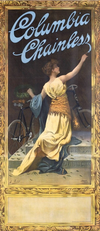 Advertisement for the Columbia Chainless Bicycle, 1897