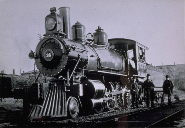 Engine number 36 in a Hartford station