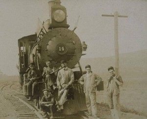 Locomotive number 14 from the Central New England Railway Co