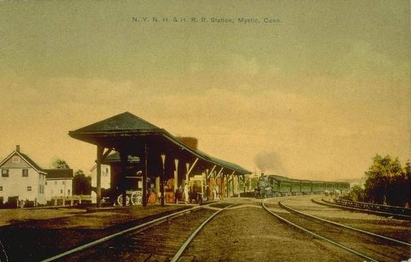 The N.Y. N.H. & H. R.R. Station in Mystic, early 1900s