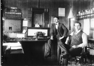Workers in the Berlin depot office, 1900s