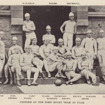 Uniform of the first rugby team at Yale