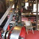 Steam-powered cider mill at BF Clyde's in Mystic