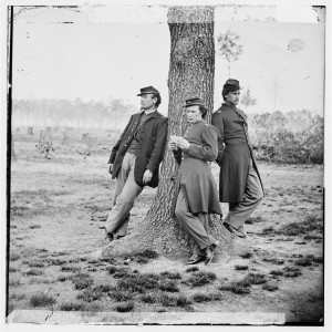 Three officers of Company C, 1st Connecticut Heavy Artillery