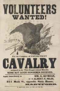Call for volunteers to a Connecticut cavalry unit, 1861