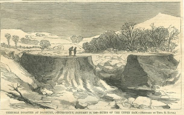 Ruins of the Upper Dam of the Kohanza Reservoir in Danbury