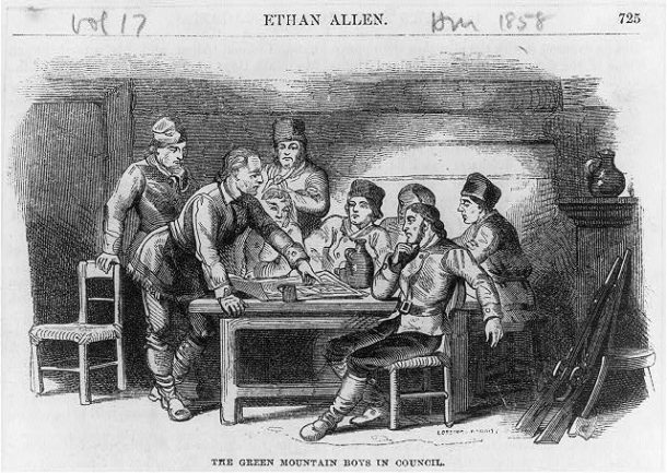 Ethan Allen and the Green Mountain Boys