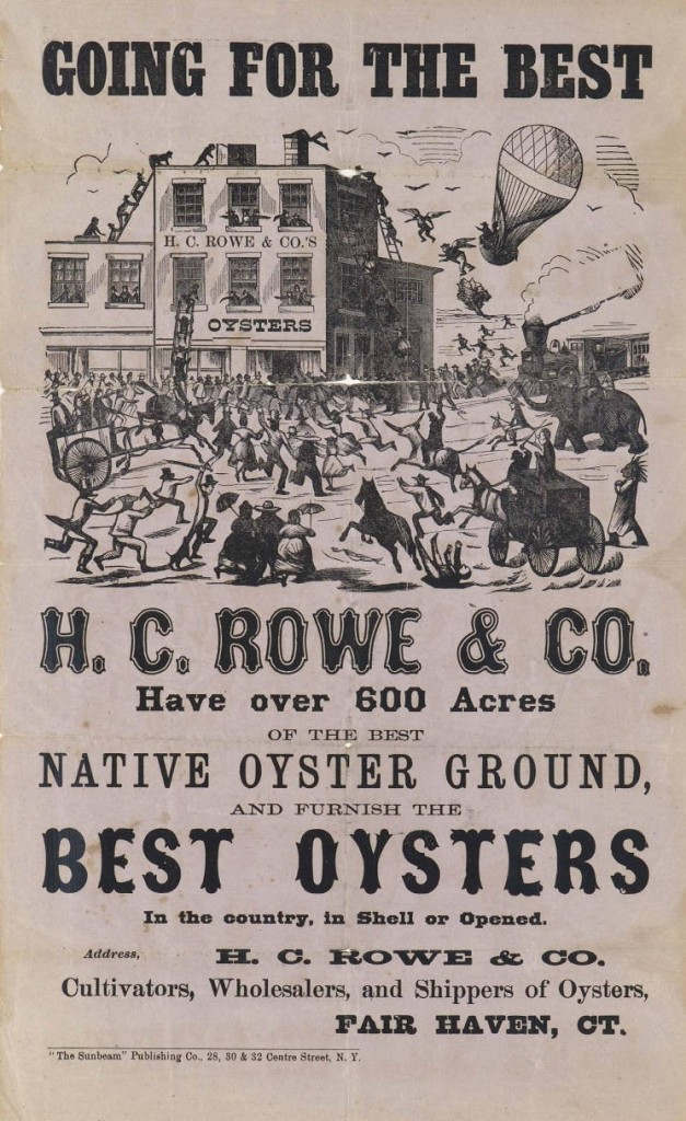 """Best Oysters in the Country,"" HC Rowe & Co., advertisement, Fair Haven"
