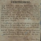 Advertisement for a runaway slave, 1753