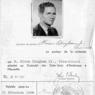 Hiram Bingham Jr.'s Diplomatic ID card