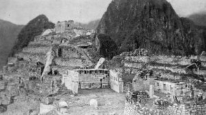 Photograph by Hiram Bingham of the Sacred Plaza