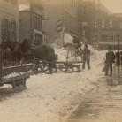 Snow removal on Church Street, Hartford