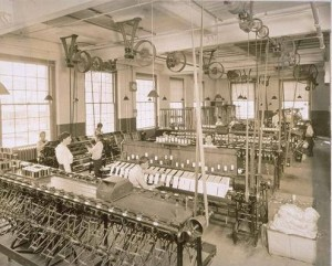Mill interior, Cheney Brothers Silk Manufacturing Company