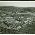 Aerial view of the Danbury Fair grounds, 1954