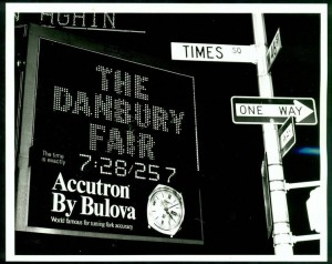 Danbury Fair Sign in Times Square, New York