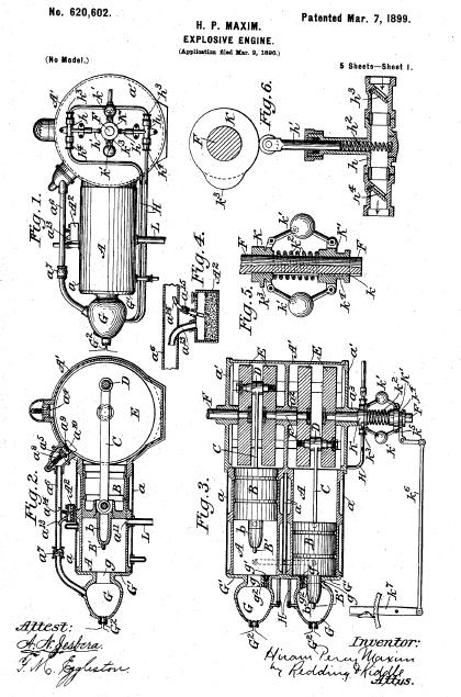 Explosive Engine patent, Hiram Percy Maxim