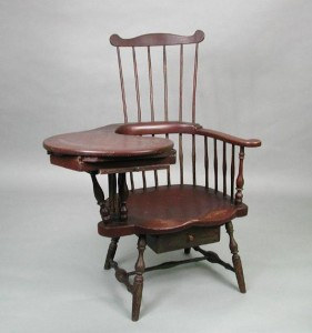 Writing-arm chair attributed to Ebenezer Tracy