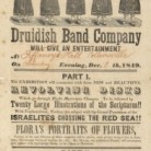 Druidish Band Company advertisement