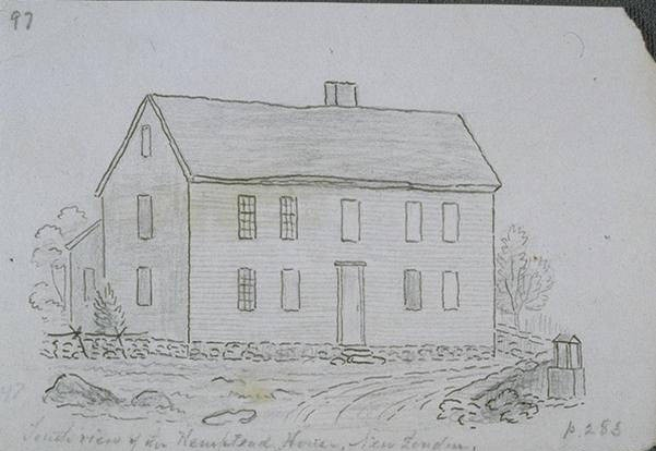 South view of the Hempstead House, New London