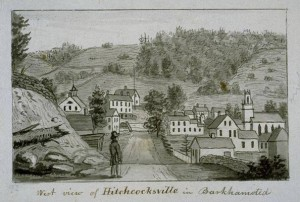 West view of Hitchcocksville in Barkhamsted