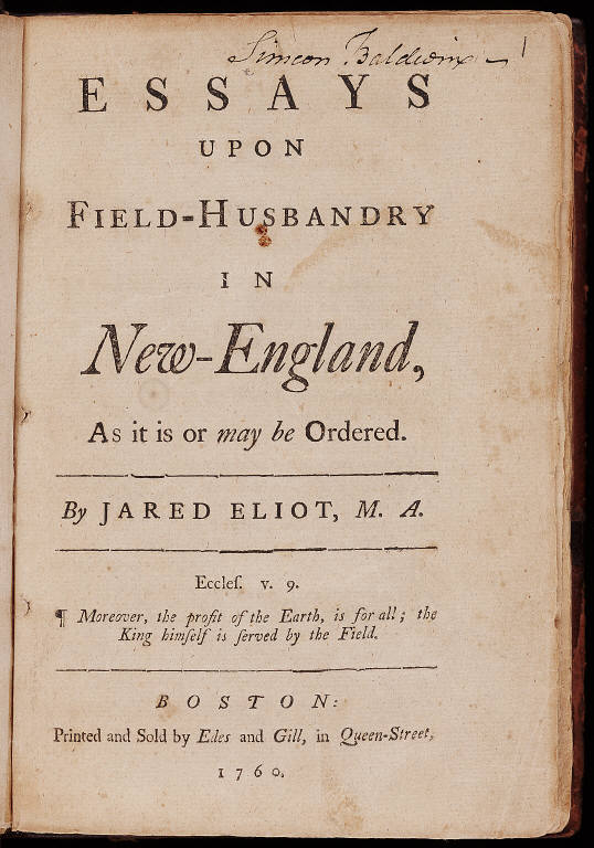 Essays upon field-husbandry in New-England