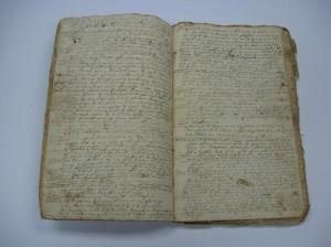 Center section of Joshua Hempstead's original manuscript