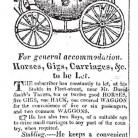 Ad for William Lanson's stable