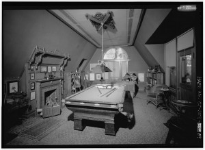 Mark Twain's billiard room