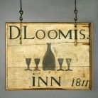 David Loomis's Inn simple panel sign