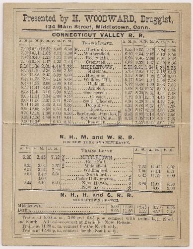 Connecticut Valley R. R. schedule