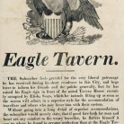 Advertisement for Eagle Tavern, Hartford