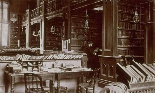Hartford Public Library stacks in the Wadsworth Atheneum, Hartford