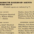 Underground Railroad Agents in Connecticut