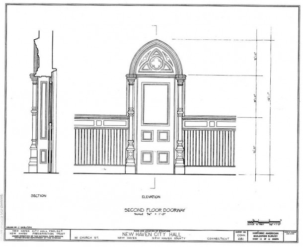 New Haven City Hall & Courthouse, Historic American Buildings Survey