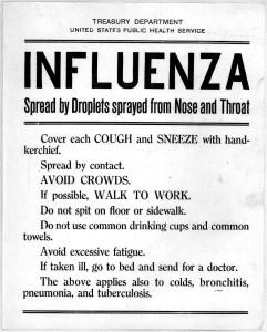 United States Public health service flyer, 1918