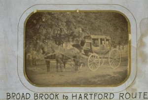 Stagecoach, Broad Brook to Hartford, ca. 1875