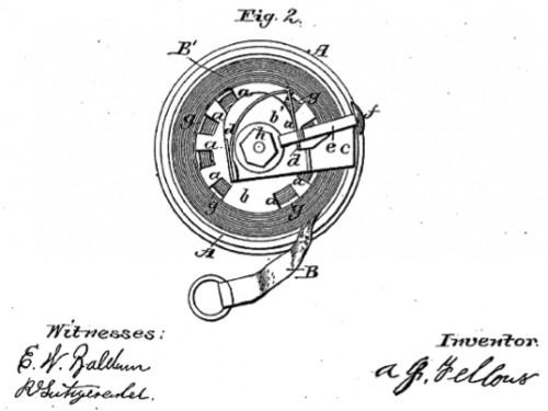 Tape Measure patent, Alvin J. Fellows, New Haven