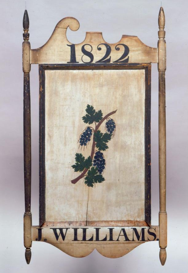 Sign of the Grapes, 1822