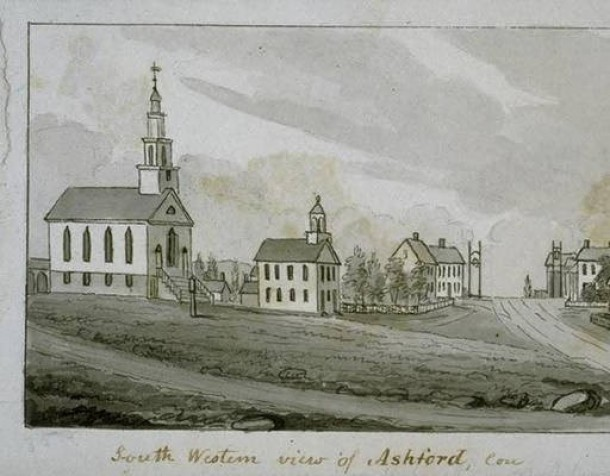John Warner Barber, South Western view of Ashford, Conn
