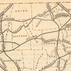 Map detail Turnpikes of Connecticut